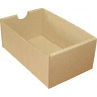 Коробка (140 x 90 x 60), без крышки, бурая