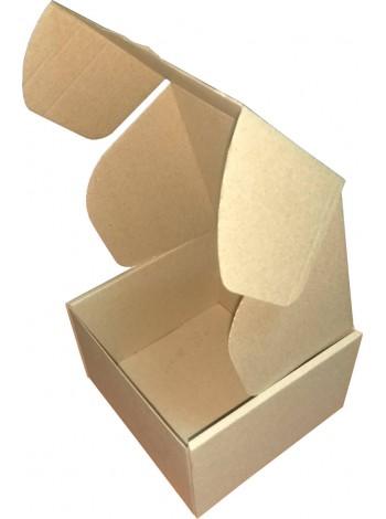 Коробка картонная, бурая,  (150 x 150 x 95) мм.