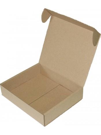 Коробка бурая, самосборная (185 x 160 x 40)