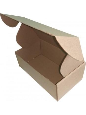 Коробка картонная, бурая,  210 х 120 х 80 мм.
