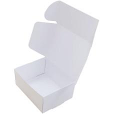 Коробка (090 x 70 x 40), белая, подарочная