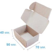 Коробка (090 x 70 x 40), бурая, 2-х слойная, подарочная
