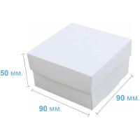 Коробка (090 х 90 х 50), белая, подарочная