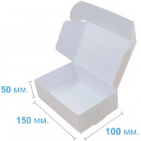 Коробка (150 x 100 x 50), белая, подарочная