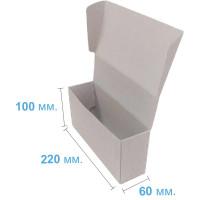 Коробка (220 х 60 х 100), бурая, 2-х слойная, подарочная