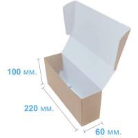 Коробка (220 х 60 х 100), крафт, подарочная