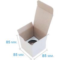 Коробка (085 х 85 х 85), белая, на 1 кекс