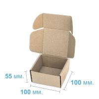 Коробка (100 x 100 x 55), бурая