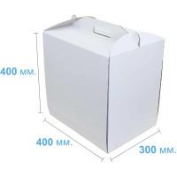 Коробка (400 х 300 х 400), белая, для тортов