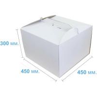 Коробка (450 х 450 х 300), белая, для тортов