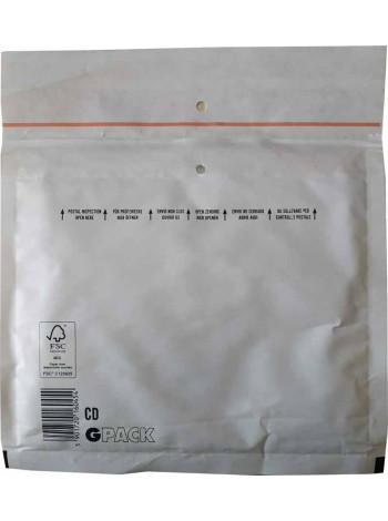Конверт бандерольный (Польша, 180 мм. х 160 мм., белый, CD)