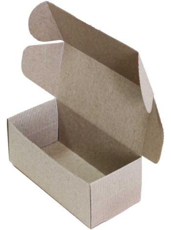 Коробка (150 x 70 x 60), бурая, 2-х слойная, подарочная