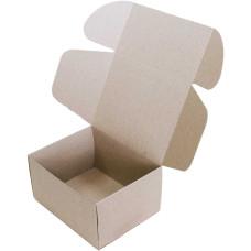 Коробка (190 x 150 x 100), бурая, 2-х слойная, подарочная