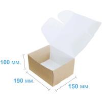 Коробка (190 x 150 x 100), крафт, подарочная