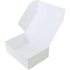 Коробка (220 х 160 х 80), белая, подарочная