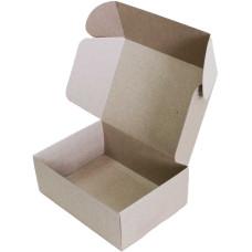 Коробка (220 х 160 х 80), бурая, 2-х слойная, подарочная