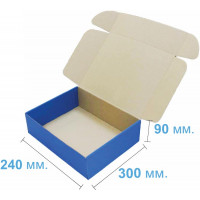 Коробка (300 х 240 х 90), синяя