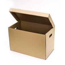 Коробка (535 х 295 х 345), архивная, бурая