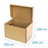 Коробка (320 х 220 х 220), для продуктовых наборов, бурая