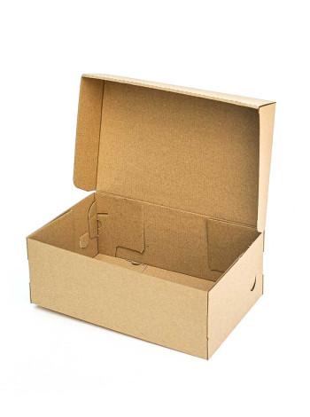 Коробка (320 х 200 х 120), для туфель, бурая