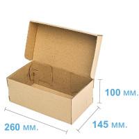 Коробка (260 х 145 х 100), для подростковой обуви, бурая