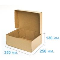 Коробка (350 х 250 х 130), для полусапог, бурая