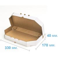 Коробка (330 х 170 х 40), для хачапури, белая