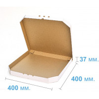 Коробка (400 х 400 х 37), для пиццы, белая