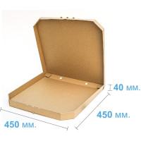 Коробка (450 х 450 х 40), для пиццы, бурая