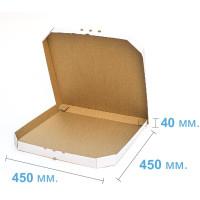 Коробка (450 х 450 х 40), для пиццы, белая