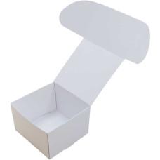 Коробка (090 x 90 x 60), белая, подарочная