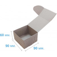 Коробка (090 x 90 x 60), бурая, 2-х слойная, подарочная