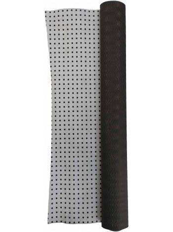 Гофробумага черная / черные квадраты (5 м. х 0,75м; 75гр./м2.)
