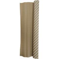 Гофробумага бурая белые полоски / белые квадраты (5 м. х 0,75м; 75гр./м2.)