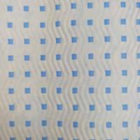 Гофробумага голубая / голубые квадраты (5 м. х 0,75м; 75гр./м2.)