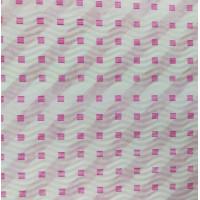 Гофробумага малиновая полоска / малиновые квадраты (5 м. х 0,75м; 75гр./м2.)