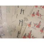 Упаковочная крафт-бумага с принтом