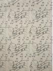 """Упаковочная бумага, крафт, """"Ноты"""" (10 м. х 1,05 м., 80 гр./м2)"""