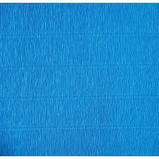Креповая бумага (креп), синяя, 50см х 2,5м
