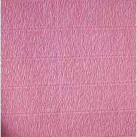 Креповая бумага (креп), розовая, 50см х 2,5м