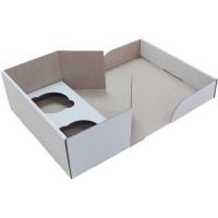 Коробка (195 х 100 х 80), белая, на 2 кекса