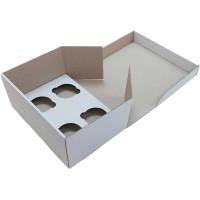 Коробка (250 х 170 х 110), белая, на 4 кекса