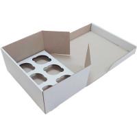 Коробка (250 х 170 х 110), белая, на 6 кексов