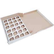 Коробка (475 х 321 х 90), белая, на 24 кекса