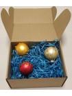 Наполнитель для коробок из синей стружки древесной