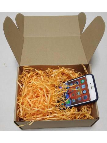Наполнитель для коробок из оранжевой стружки древесной