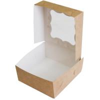 Коробка (130 x 130 x 60), крафт, подарочная