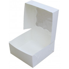 Коробка (130 х 130 х 60), белая, для пирожных