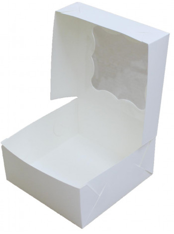 Коробка (130 x 130 x 60), белая, подарочная