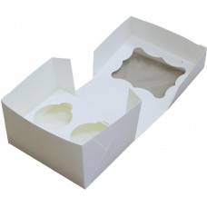 Коробка (150 х 120 х 90), белая, на 2 кекса